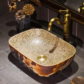 New Chinese style stage basin thin square antique art with its household ceramic lavatory toilet lavabo