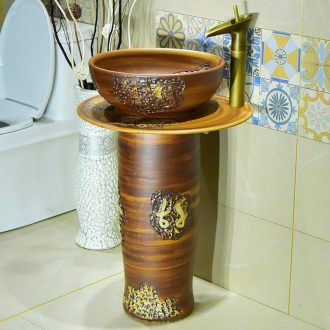 The Lavatory basin sink ceramic column column children wash one floor vertical basin simple integrated basin