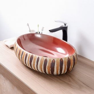 Europe type restoring ancient ways on the ceramic basin sink oval Chinese basin bathroom basin hotel balcony sink