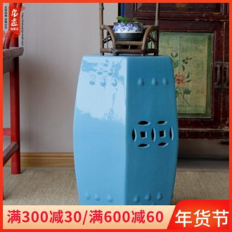 Jingdezhen ceramics classical drum who chair sitting room home decoration and porcelain who who porcelain pillar landing place
