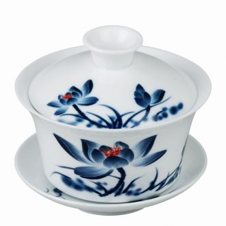 East west tea pot of ceramic tea set three bowl cover only a cup of tea for the bowl glaze in blue and white big tureen large 4.2 inch