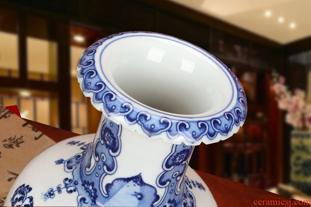 Jingdezhen ceramics manual its porcelain bottle wrapped vase life of Chinese style household word tail vase furnishing articles