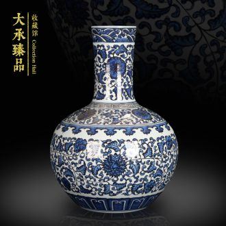 Jingdezhen blue and white paint around branches celestial hand - made ceramics vase Chinese style classical collection handicraft furnishing articles