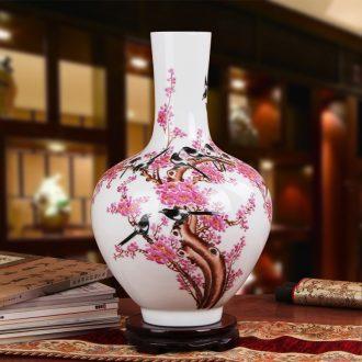 Famous hu, jingdezhen ceramics vase upscale gift porcelain hand - made pastel peach celestial vase water point