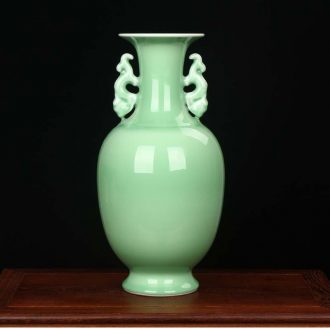 Jingdezhen ceramics pea green flowers ears lotus seed vase modern household fashionable sitting room adornment is placed