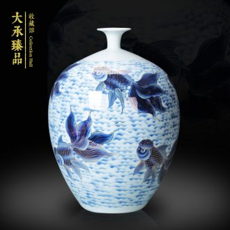 The see colour blue and white porcelain of jingdezhen ceramics vase goldfish more fashion home decoration vase furnishing articles every year