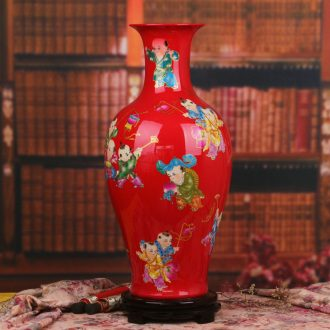 Chinese style Chinese jingdezhen ceramics lad of large vases, I and fashionable sitting room home decoration furnishing articles