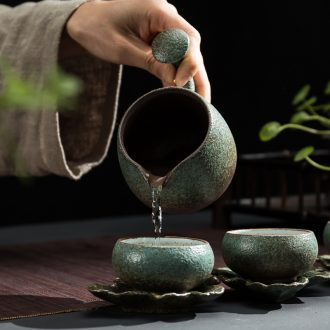 Japanese coarse pottery creative side points tea exchanger with the ceramics fair keller cup the male suit tea sea cup kung fu tea accessories
