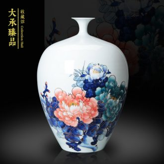 The see colour blue and white porcelain of jingdezhen ceramics vase blooming flowers, vases, Chinese style living room a study place decoration