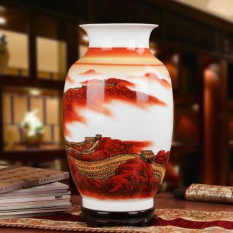 Famous hu, jingdezhen ceramics vase upscale gift collection Long Changcheng porcelain hand - made China vase