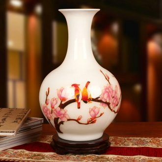 Jingdezhen ceramics gold straw beaming vase crafts decoration modern Chinese study
