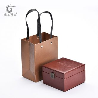 East west tea pot of paper bags crack cup tea gift box packing box contains no ceramic flows into cartons