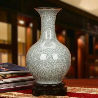 Chinese style of the ancients of jingdezhen ceramics up crack glaze vase modern classical household crafts decoration