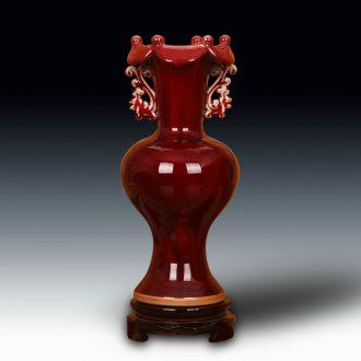 Jingdezhen ceramics archaize handicraft decoration jun porcelain vase retro home home furnishing articles lotus expressions using bottle