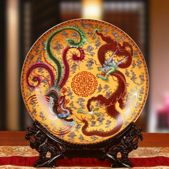 Jingdezhen ceramics up phnom penh in extremely good fortune faceplate hang dish plate Chinese style wedding gifts decorative furnishing articles