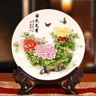 Jingdezhen ceramics amusement sat dish hang dish faceplate contracted and I classical decoration home furnishing articles