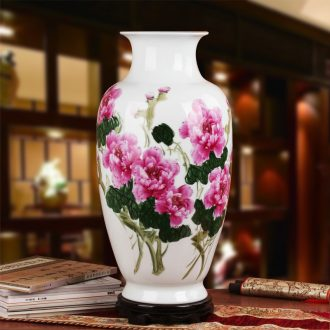 Master hu, a collection of high - grade gift hand famille rose porcelain jingdezhen ceramics vase peony riches and honour