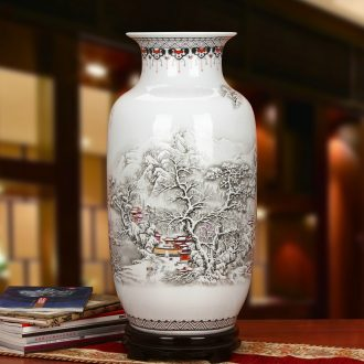 Jingdezhen ceramics powder enamel khe sanh Snow White gourd scene of large vases, modern Chinese style household furnishing articles