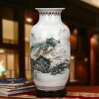 Jingdezhen ceramics idea gourd pastel landscape of large vases, modern Chinese style household craft feng shui furnishing articles