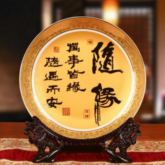 Jingdezhen ceramics up phnom penh sit on every occasion hang dish plate faceplate Chinese style classical decoration home furnishing articles