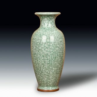 Jun porcelain of jingdezhen ceramics, crack open the slice antique vase landed the big vase decoration home furnishing articles