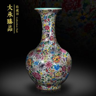 Antique Chinese jingdezhen ceramics vase powder enamel enamel vase decoration home decoration handicraft furnishing articles