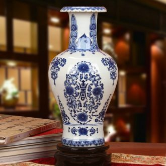 Jingdezhen ceramics manual its porcelain bottle wrapped vase life of Chinese style household word tail vase furnishing articles