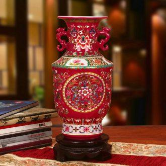 Jingdezhen ceramics high - grade crystal glaze double yao fu spent climbing ssangyong admiralty vase modern household decoration