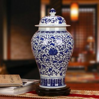 The General hand - made wrapped branch of blue and white porcelain of jingdezhen ceramics flower pot vase classical household furnishing articles adornment