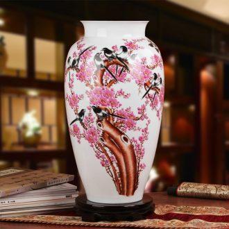 Famous works of hu, jingdezhen ceramics vase upscale gift porcelain hand - made beaming vase