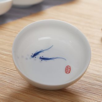 Friend is ceramic hand - made porcelain tea cups water sample tea cup kung fu tea cup master cup personal cup