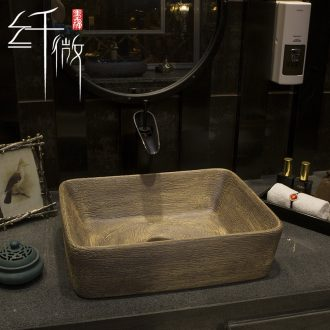 Basin of Chinese style on the square to restore ancient ways on the ceramic art Basin sink Basin sinks the pool that wash a face Basin that wash a face