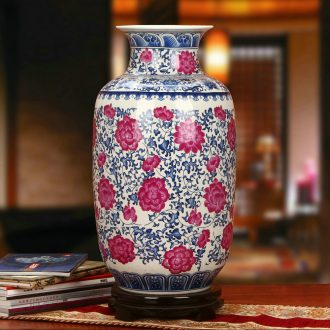 The king of Chinese blue and white porcelain of jingdezhen ceramics branch flower vase modern classical household handicraft furnishing articles