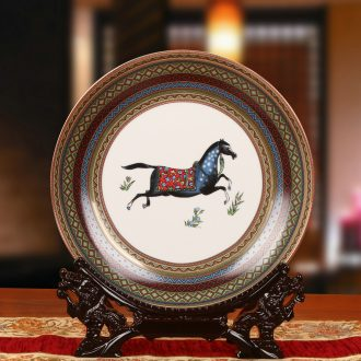 Jingdezhen ceramics European horse faceplate hang dish plates southeast Asia household decoration decoration