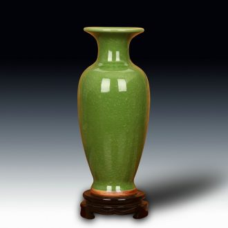 Jun porcelain of jingdezhen ceramics green vase archaize up crack glaze home sitting room handicraft furnishing articles