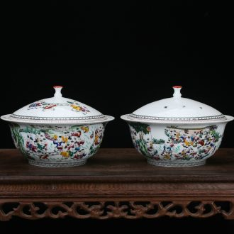 Jingdezhen ceramics vase high - grade hand - made pastel the ancient philosophers figure small tureen imitation Ming and the qing dynasties classical arts and crafts