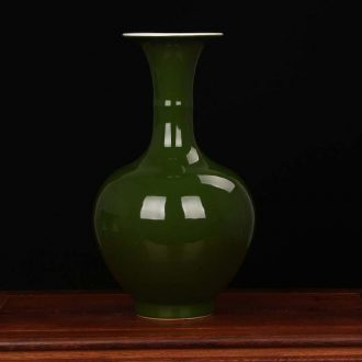 Jingdezhen porcelain factory founding color glaze ceramics factory goods, green glaze vase modern Chinese style household decoration furnishing articles