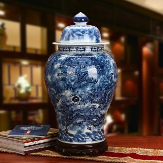 High - grade hand - made Kowloon, blue and white porcelain in jingdezhen ceramics day be born tank general in the Ming and the qing dynasties classical furnishing articles