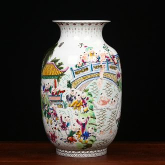 Jingdezhen ceramics classical Ming and the qing dynasties Wang Zhenxi hand - made figure vase household handicraft furnishing articles sitting room the ancient philosophers