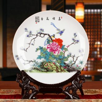 Jingdezhen ceramics charactizing a faceplate hang dish modern decoration decoration decoration plate