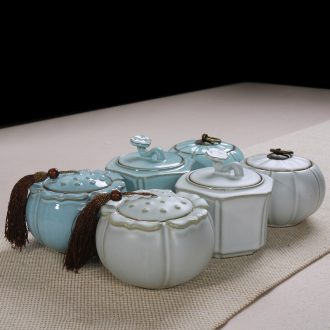 East west pot of ceramic seal pot pu 'er tea to wake receives your porcelain ruzhou style coarse pottery POTS your up caddy fixings