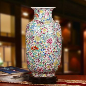 Jingdezhen ceramics all hand - made porcelain factory white flower idea gourd vase of large Chinese style household furnishing articles