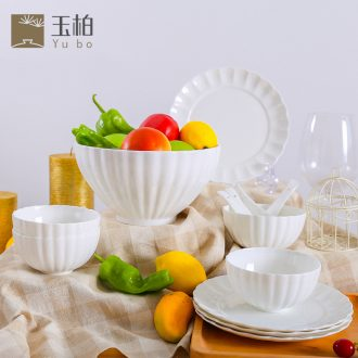 Jade cypress jingdezhen ceramic tableware suit ipads bowls plate pure color 13 woolly jobs without makeup fresh and gift porcelain