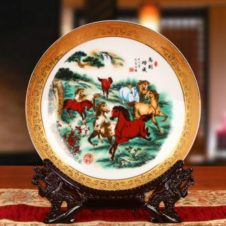Jingdezhen chinaware paint success by disc hanging dish his Chinese style classical decoration home furnishing articles