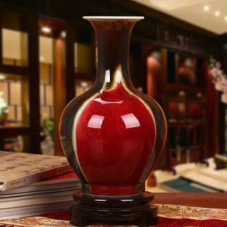 Jingdezhen ceramics high temperature color glaze three Yang kaitai, vases, modern home fashion crafts decoration