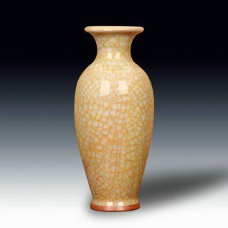 High - end antique guan up jingdezhen ceramics slicing vase modern classical home sitting room handicraft furnishing articles