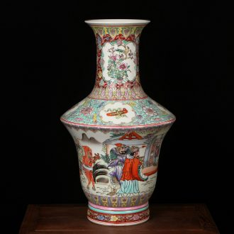 Jingdezhen ceramics factory goods pastel the king of the imitation of xian admiralty large vases, modern Chinese style household crafts