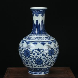 Jingdezhen ceramics vase high - grade hand - made the design blue and white tie up branches of Chinese style classical home furnishing articles of handicraft
