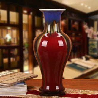 Jingdezhen ceramics three Yang kaitai four coating color glaze vase of modern Chinese style household decorative furnishing articles