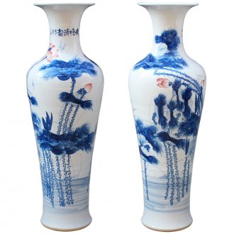 Jingdezhen ceramics hand - made porcelain youligong large vases, classical Chinese style living room home decoration